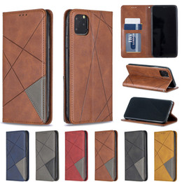 Flip case universal inches online shopping - Splice Leather Wallet Case For Iphone X Xr Xi Xsmx inch New Samsung Galaxy A10e S10 S9 Magnetic Business Flip Phone Cover
