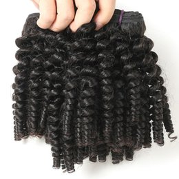 spiral curl weave human hair Australia - 9A Indian Virgin Funmi Hair 3 Bundles Spiral Curl Hair Bundles Short Curly Weave Unprocessed Brazilian Human Hair Extensions