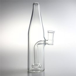 Beer Pipe Australia - New 7.5 Inch Medium Glass Bong Water Pipes with 14mm Female Thick Heady Glass Dab Rigs Beer Bottle Recycler Bongs for Smoking