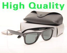 Sun Glasses Black Australia - High Quality Plank Sun glasses Black glass Lens Sunglasses Metal hinge Sunglasses Brand Designer Mens Sun glasses Womens glasses with cases