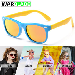 Wholesale Polarized Children Sunglasses Cycling Girls TR90 Glasses Mirror Blue Coating Rubber Boys Sunglasses Kids S802 occhiali