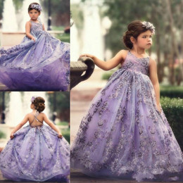 2017 flower girl dresses Dream Lace Backless Flower Girls Dresses Crew Sleeveless Girls Pageant Dresses 2019 First Communion Dress Toddlers Kids Formal Wear