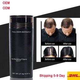 Wholesale DHL Free Shipping hair building fibers 27.5g Keratin Hair Powders Building Holding Fibers Black Spray Applicator Hair Loss Products
