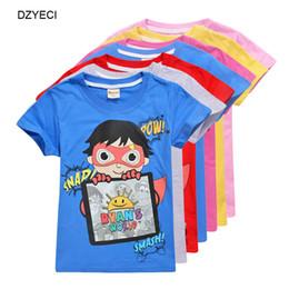 $enCountryForm.capitalKeyWord Australia - Summer Big Boy Girl T-shirt Clothes Ryan Toys Review Kid Print Cartoon Cotton Tee Teenage Children Sport T Shirt Top Clothing