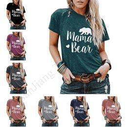 Wholesale t shirt mama for sale – custom 2020 MAMA BEAR Women T Shirt Top Casual O Neck Short Sleeve Summer T Shirt Woman Shirts Female Pullover Women Tops Tees S XL E1903