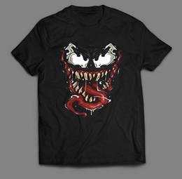 Arts Books Australia - VENOM'S FACE COMIC BOOK OLDSKOOL ART *FULL FRONT OF SHIRT** Mens 2018 fashion Brand T Shirt O-Neck