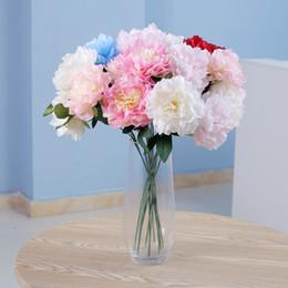 Flor artificial peônia falso de seda único toque real hortênsias para peças centrais do casamento festa em casa flores decorativas venda por atacado