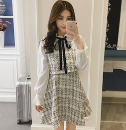 korean winter party dresses Canada - 2019 Autumn Winter New Vintage Dresses Korean Women Elegant Dress Party Long Sleeve Runway Vestidos T200416