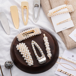 Comb Clips metal online shopping - Pearl Metal Hair Clip Hairband Comb Bobby Pin Barrette Hairpin Headdress Accessories Beauty Styling Tools New Arrival