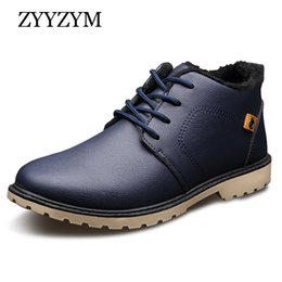 boots warm up Australia - Mens Boots Autumn Winter Lace-up Style Ankle Fashion Classic Cotton Padded Shoes Plush Warm Man Snow Boots Hot Sales
