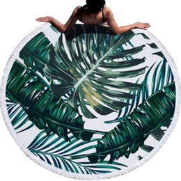 China Urijk Printed Tropical Leaves Flower Beach Towel Round Microfiber Beach Towels For Living Room Home Decor Boho Style Bath Towels C19041201 cheap tropical living room decor suppliers
