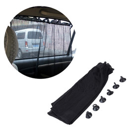 car windows sun shade NZ - 2Pcs Car Sun Visor Rear Side Window Sun Shade Mesh Fabric Visor Shade Cover Shield UV Protector Black Auto Sunshade Curtain