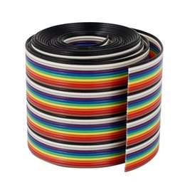 1M 1.17mm 40PIN Wire Flat Multicolored Flexible Rainbow Ribbon Jumper Cable on Sale