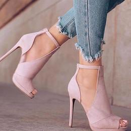 $enCountryForm.capitalKeyWord Australia - Kolnoo Handmade Ladies Stiletto Heel Sandals Kid-suede Ankle Straps Casual Shoes Peep-toe Party Prom Office Fashion Dress Court Shoes D163