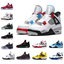 $enCountryForm.capitalKeyWord Australia - New arrived 2019 4s sports shoes for men OKLAHOMA Royalty Travis Scots white the Fear Pack Athletic 4 basketball shoe mens sneakers