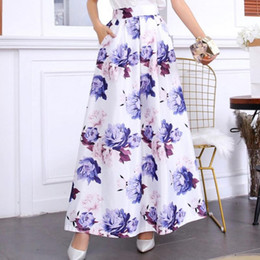 Wholesale spring long skirts for women for sale - Group buy JAYCOSIN Boho Skirts Long For Plus Size Women Ladies Spring And Summer Print Fashion Casual Skirt Retro Big Skirts Flower Print