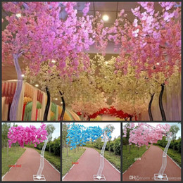 $enCountryForm.capitalKeyWord Australia - 2.6M height white Cherry Blossoms Tree Road Leads with Iron Arch Frame Wedding Runner Aisle Column Shopping Malls Decoration supplies