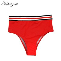 da2ed9e9ae9f3 Fulaigesi Women swimsuit thong Bikini Bottom bathing suit swimwear low  waist hot solid high cut sexy swim suit beach briefs new