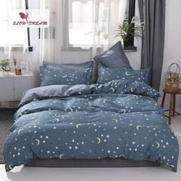 $enCountryForm.capitalKeyWord Australia - SlowDream Star Beauty Bedding Set Flat Sheet Bedspread Double Queen King Size Bed Linens Set Decor Home Textiles Duvet Cover