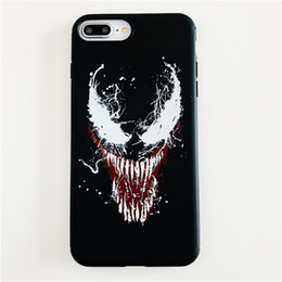 comic cases Australia - YunRT Marvel Venom Super hero emboss phone cases for iphone 6 6s 7 8 plus X XR XS Max DC Comics soft silicon case for iphone 7