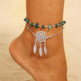 dancing anklets feet Australia - Dream Catcher Anklet Chain Jewelry Foot Bracelet layer for Beach Dance Party Casual