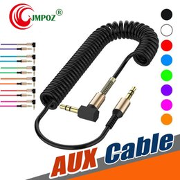 code apple Australia - 3.5mm Audio Cable 3.5 Jack Male To Male Aux Cable Spring Headphone Code For Car Xiaomi Redmi 5 Plus Oneplus Lg Samsung Galaxy