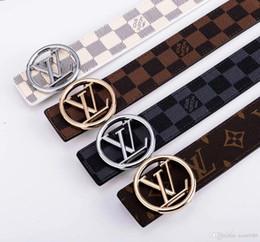Belts Men Gold Australia - Men high-grade leather belt custom belt custom leather belt fashion classic Gold buckle 996328