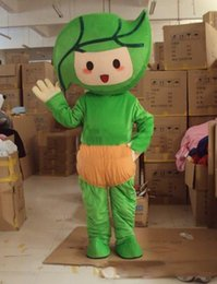 $enCountryForm.capitalKeyWord Australia - 2019 High quality Green leaves baby Cartoon Character Costume mascot Custom Products custom-made free shipping