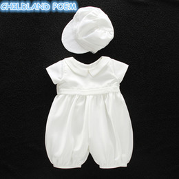 $enCountryForm.capitalKeyWord Australia - Baby Girl Baptism Gown Boys Christening Clothes 1st Birthday Party Wedding Baby Boy Clothes Dress Gentleman Baby Outfit With Hat J190619