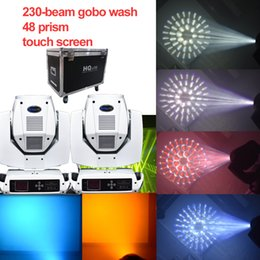 concert glasses Australia - 2pcs freeshipping white housing 7R 230W Beam Moving Head 24+16+8 prism48 glass gobo stage concert wedding light
