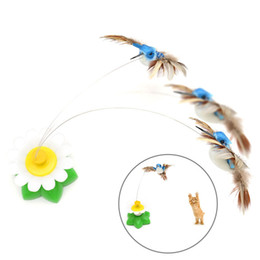 $enCountryForm.capitalKeyWord Australia - Electric Flying Bird Feather Toys Funny Cat Toy Cat Interactive Small Toy Pet Toys Supplies