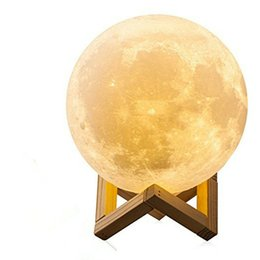 $enCountryForm.capitalKeyWord Australia - Moon Lamp, 3D Printing LED Night Light Lunar Moon Light with Stand and Dimmable & USB Rechargeable for Baby Kids