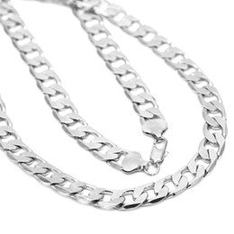 chain whips Canada - wholesale 12MM width Silver man jewelry fashion men chain curb necklace for Men's whips necklace hip hop style jewelry gift new KASANIE