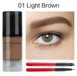 Wax Pencils Australia - SACE LADY Eye Brow Dye Paint Waterproof Gel Make Up Pomade Brush Set Black Eyebrow Stamp Enhancer Pencil Kit Wax Cosmetic