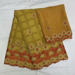 Discount cotton square scarf wholesale top quality square swiss 100% cotton fabric embroidered with stones 5+2yard chiffon fabric scarf,guinea brocade for dres