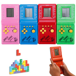 classic tetris game NZ - 100pcs set Retro Classic Childhood Tetris Handheld Game Players LCD Electronic Games Toys Game Console Riddle Educational Toys Y5