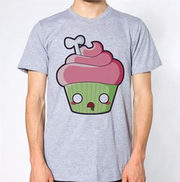 Cupcakes Toppings NZ - Cupcake Cute Zombie T-Shirt Halloween Scary Cake Hilarious Top Brand shirts jeans Print