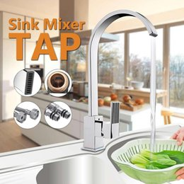 lever mixer Australia - 2 Pipes Kitchen Sink Mixer Faucet Single Lever Bathroom Basin Water Tape Single Handle Brass Deck Mounted Sink Water Faucets