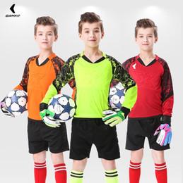 Toptan satış Çocuklar Yetişkin Kaleci Üniformalar Futbol Formalar Custom Futbol Eğitimi Üniforma Emniyet Koruyucu Giysiler Baskı İsim Numara