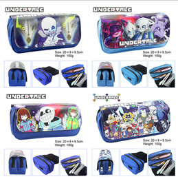 $enCountryForm.capitalKeyWord Australia - Cartoon Game Undertale Pencil Case Makeup Bag Zipper Pouch Students Stationery Pouch Pen Bag Cosplay Otaku Gift LE387