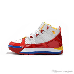 33f7a4faa2e Cheap retro lebron 16 basketball shoes for sale SuperBron Red Blue White  Black Gold youth kids lebrons sneakers tennis with box size 7 12