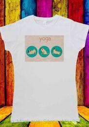 Women Hiphop T Shirt Australia - Women's Tee Pug Yogatraining Dog Funny Cute Gymnasium Trainer T-shirt Men Women Unisex 1970 2018 Hiphop Summer
