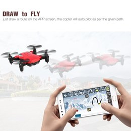camera mini motor UK - 2019 808 Mini Pocket Foldable FPV RC Quadcopter Drone with 720P HD Adjustable Wifi Camera Real-time Altitude Hold Headless Mode