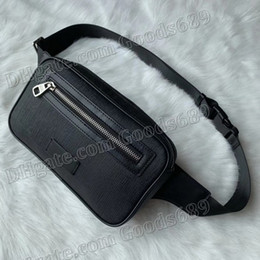 running waist pouch UK - New Fashion Designer Luxury Unisex Men Women Leather Sport Runner Fanny Pack Belly Waist Bum Bag Fitness Running Belt Pouch Back Grid Bags