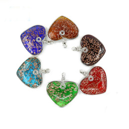$enCountryForm.capitalKeyWord Australia - Heart Glass Pendant 12 pcs   set Handmade lampwork Glass pendant Manufacturer Supply For Necklace Making Diy MC0001