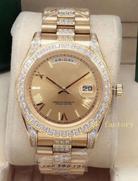 2020 41mm diamond inlaid outer ring middle row diamond watch with automatic mechanical watch stereo Roman digital dial on Sale