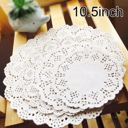 $enCountryForm.capitalKeyWord Canada - 10.5inch White Paper Doilies For Party Wedding Christmas Table Decorative Eco-Friendly Grease-Proof Cake Holder 267mm 1000 Pcs