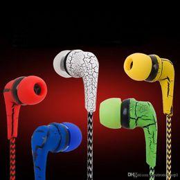 Cloth Wired Earphone Australia - Reflective Music Cloth Line 3.5mm Jack Earbuds Stereo Wired Headset Earphone Microphone Headphone