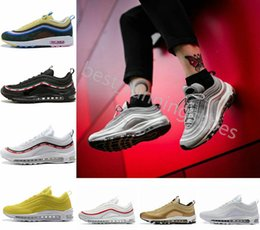 8ffa90464 2018 Ultra 97 OG Yellow White Running Shoes 97s Sean Wotherspoon Undefeated  Women maxes Sports Designer air Mens Womens Trainers Sneakers