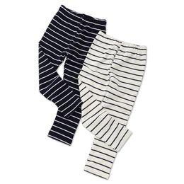 a31593c948528 2018 Autumn Girls Skinny Long Pants Black White Striped Children Bottoms Leggings  Kids Elastic Trousers Girls Cotton
